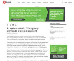 In second attack, DDoS group demands 5 bitcoin payment | SC Media