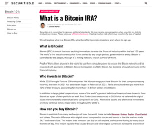 What is a Bitcoin IRA? - Securities.io