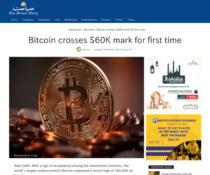 Bitcoin crosses $60K mark for first time