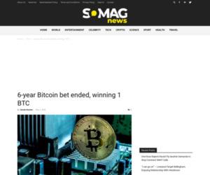 6-year Bitcoin bet ended, winning 1 BTC - Somag News