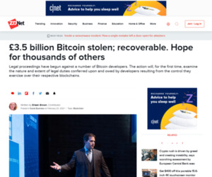 £3.5 billion Bitcoin stolen; recoverable. Hope for thousands of others | ZDNet