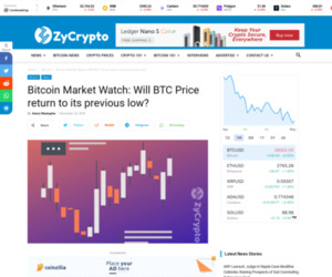 Bitcoin Market Watch: Will BTC Price return to its previous low? ⋆ ZyCrypto