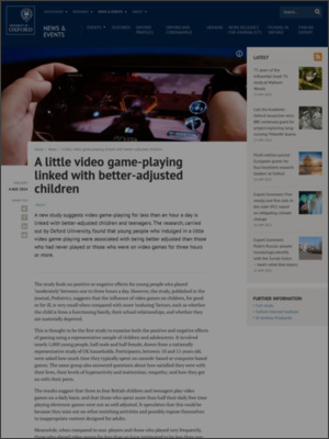 http://www.ox.ac.uk/news/2014-08-04-little-video-game-playing-linked-better-adjusted-children