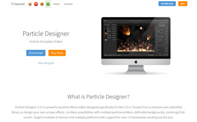 http://www.71squared.com/particledesigner