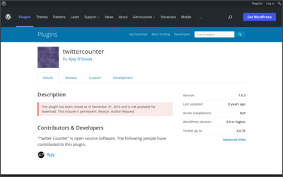http://wordpress.org/extend/plugins/twittercounter/