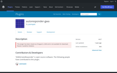 http://wordpress.org/extend/plugins/autoresponder-gwa/