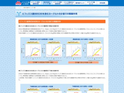 森永乳業のビフィズス菌|ビフィズス菌研究所 - BB536.JP