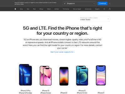 アップル - iPhone 6 - サポートされているLTEネットワークと見る国。