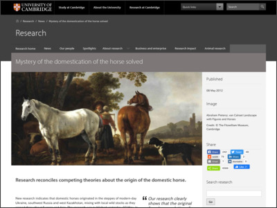 http://www.cam.ac.uk/research/news/mystery-of-the-domestication-of-the-horse-solved