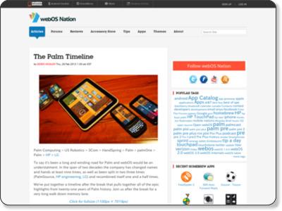 http://www.webosnation.com/palm-timeline