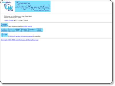http://www.lispworks.com/documentation/HyperSpec/Front/index.htm