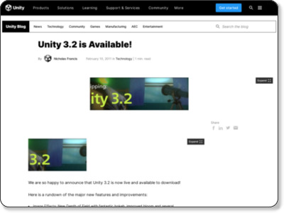 http://blogs.unity3d.com/2011/02/10/unity-3-2-is-available/