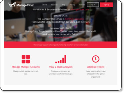 ManageFlitter - Twitter Account Management - Over 300 Million Unfollowed