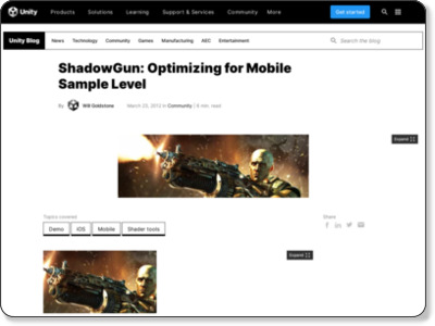http://blogs.unity3d.com/2012/03/23/shadowgun-optimizing-for-mobile-sample-level/