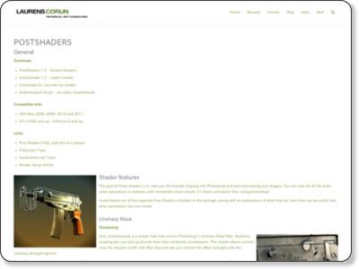 http://www.laurenscorijn.com/postshaders