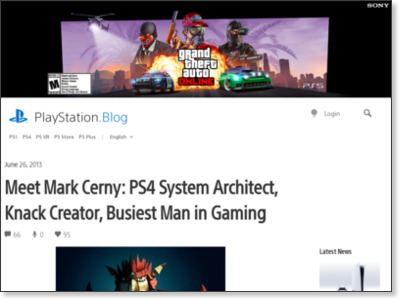 http://blog.us.playstation.com/2013/06/26/meet-mark-cerny-ps4-system-architect-knack-creator-busiest-man-in-gaming/