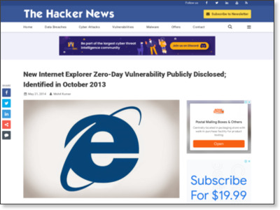 http://thehackernews.com/2014/05/internet-explorer-zero-day.html