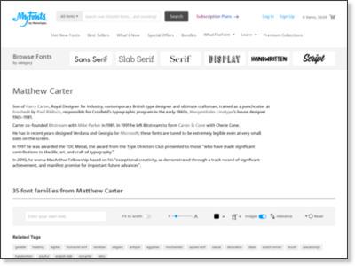 http://www.myfonts.com/person/Matthew_Carter/