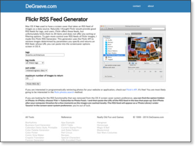 Flickr RSS Feed Generator