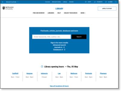http://monash.edu/library/
