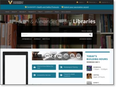 http://www.library.vanderbilt.edu/