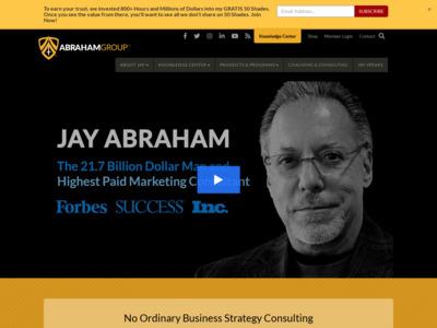 Jay Abraham(ジェイ・エイブラハム)のWordPress(ワードプレス)活用事例