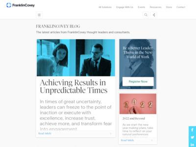 FranklinCovey Co. (フランクリン・コヴィー社)のWordPress(ワードプレス)活用事例
