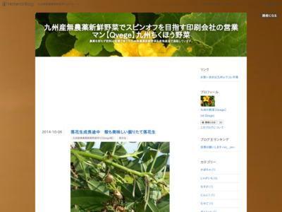 九州産無農薬野菜でスピンオフを目指す印刷会社の営業マンの日記