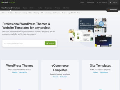 Premium WordPress Themes, Web Templates, Mobile Themes | ThemeForest