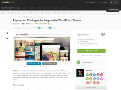 WordPress - Expression Photography Responsive WordPress Theme | ThemeForest