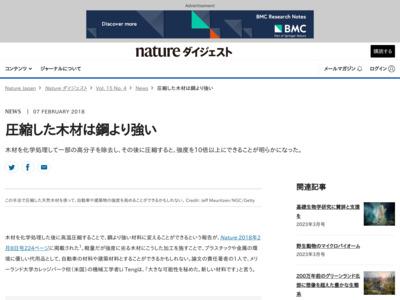 圧縮した木材は鋼より強い – Nature Asia