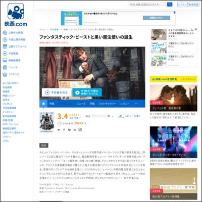 ファンタスティック・ビーストと黒い魔法使いの誕生 : 作品情報 - 映画.com