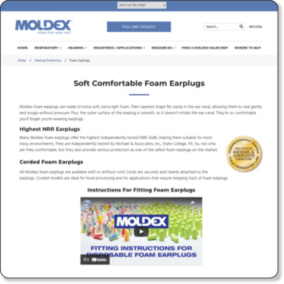 http://www.moldex.com/hearing-protection/foam-earplugs/index.php