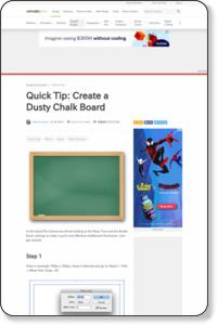 http://vector.tutsplus.com/tutorials/tools-tips/quick-tip-create-a-dusty-chalk-board/