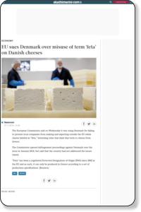 EU sues Denmark over misuse of term 'feta' on Danish cheeses