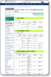 区市町村立幼稚園・小学校・中学校・義務教育学校の設置・廃止等|東京都教育委員会ホームページ