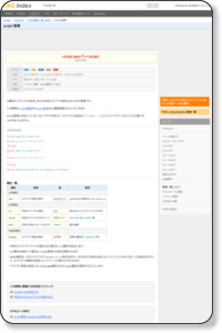 HTMLタグ/要素一覧/script 要素 - TAG index Webサイト