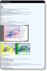 PNG Alpha Picture Editor
