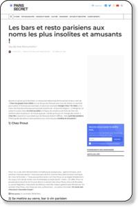 Les bars et resto parisiens aux noms les plus insolites et amusants !