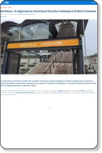 Bordeaux : le négociant en vins Pascal Dourthe condamné à 20 000 € d'amende