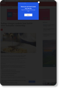 Italian vinegar makers lose battle over 'balsamic' ownership