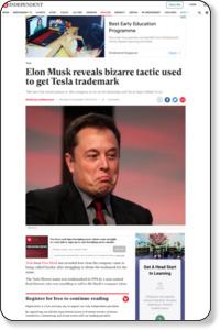 Elon Musk reveals bizarre tactic used to get Tesla trademark