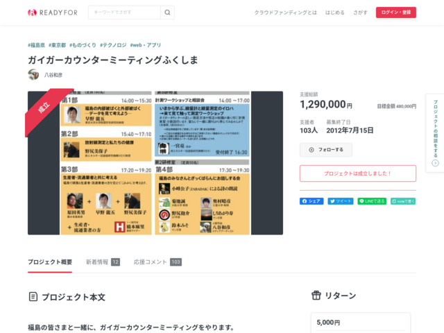 https://readyfor.jp/projects/GCM_fukushima
