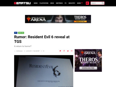 http://gematsu.com/2011/07/rumor-resident-evil-6-reveal-at-tgs