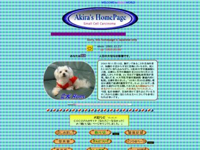 Akiraの HomePage