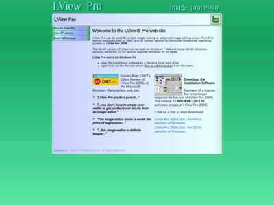 LView Pro web page