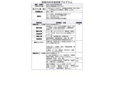 帝京大学医学部神経内科