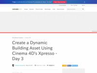http://cg.tutsplus.com/tutorials/maxon-cinema-4d/3d_cg_vfx_maxon_cinema4d_c4d_xpresso_dynamic_building_setup_day_3/