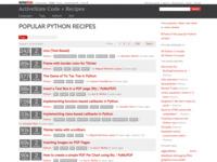 http://code.activestate.com/recipes/langs/python/