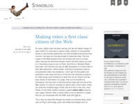 Making video a first class citizen of the Web - Standblog